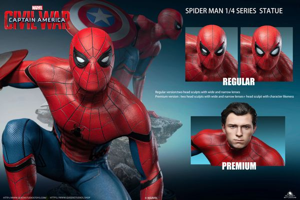 Queen Studios 1/4 Spider-Man Captain America: Civil War Statue (Premium) PO