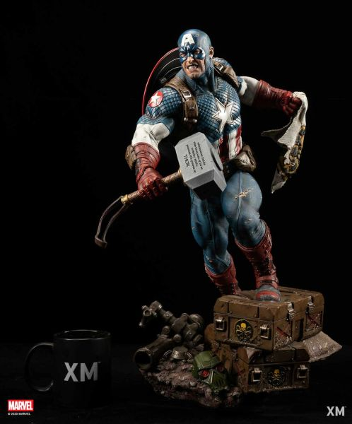 XM 1/4 Ultimate Captain America Ver B w/plaque (Pre Order)