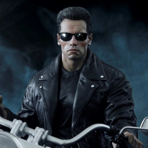 "Darkside Collectibles Studio 1/4 TERMINATOR 2 T-800 ON MOTORCYCLE LIMITED ""SIGNATURE"" EDITION (Pre Order)"