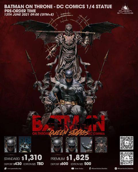 Queens Studio 1/4 Batman on Throne Premium (Pre Order)