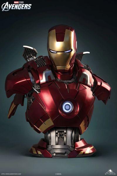 Queens Studio 1/1 Ironman MK 7 Bust (Pre Order)