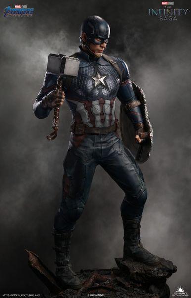 Queens Studio 1/2 Captain America (Pre Order) w/ Broken Shield (before 3rd Oct)
