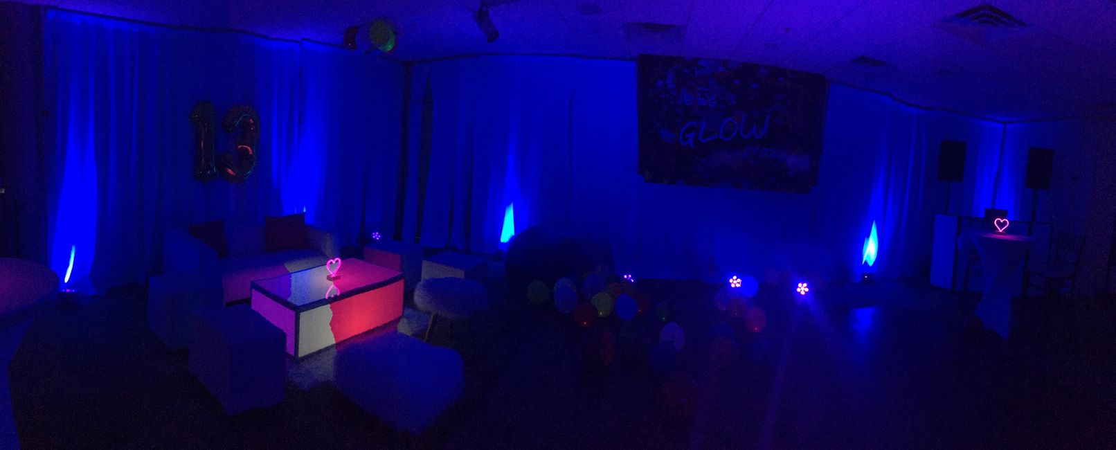 Glow in the dark parties by Miami Party DJ