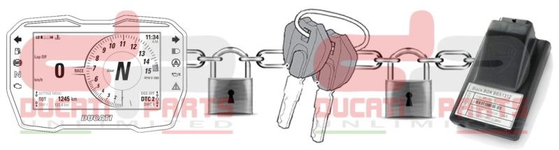 DUC-101 | Ducati Aprilia BMW KTM Lost Red Key Code Card
