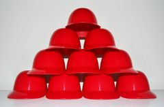 Blank Red Lot of (10) Ice Cream Sundae Helmets (free shipping)