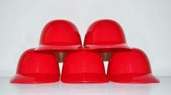 Blank Red Lot of (5) Ice Cream Sundae Helmets (free shipping)