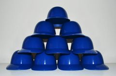 Blank Royal Blue Lot of (10) Ice Cream Sundae Helmets (free shipping)