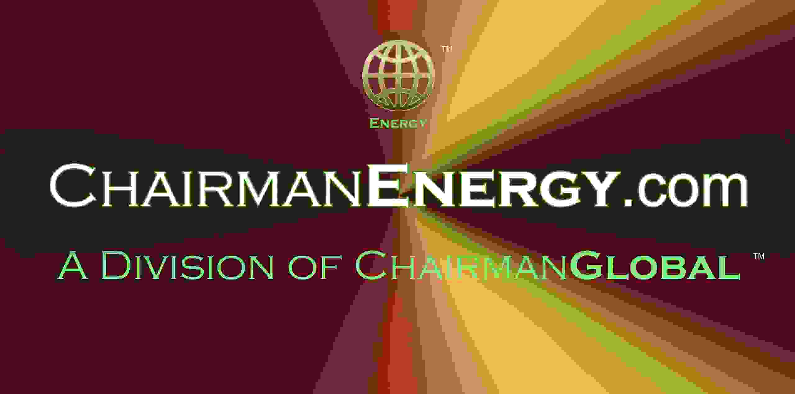 This is the artwork design for ChairmanEnergy.com. Chairman Energy is a division of ChairmanGlobal.com.