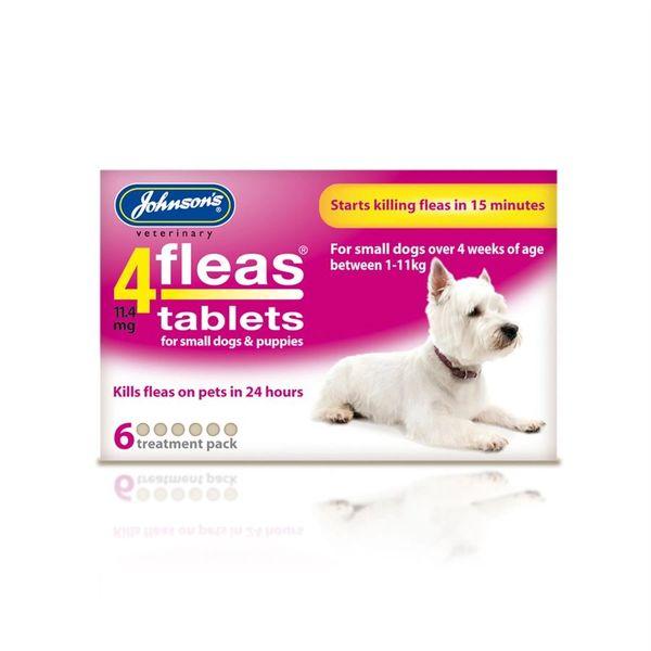 *ONLINE & INSTORE* Johnsons Veterinary 4 Fleas Tablets