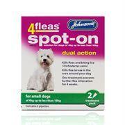 {LIB}*ONLINE & INSTORE* Johnsons Veterinary 4 Fleas Spot On Dual Action (2 Pack)