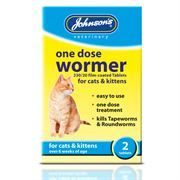 *ONLINE & INSTORE Johnsons Veterinary One Dose Wormer for Cats & Kittens (2 Tablets)