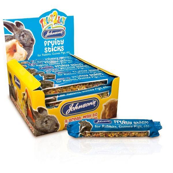 *ONLINE & INSTORE* Johnsons Treat 2 Eat Fruity Sticks for Rabbits & Guinea Pigs 45g