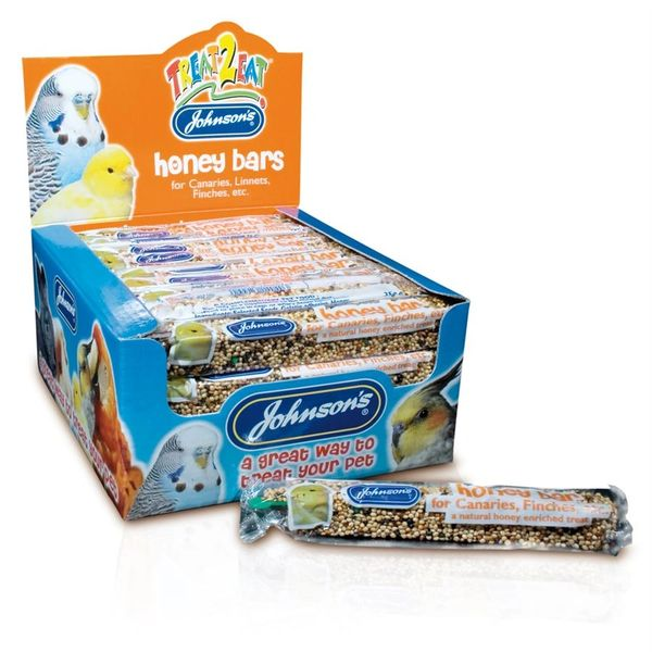 *ONLINE & INSTORE* Johnsons Honey Bar for Canaries, Finches etc. (1 Bar)