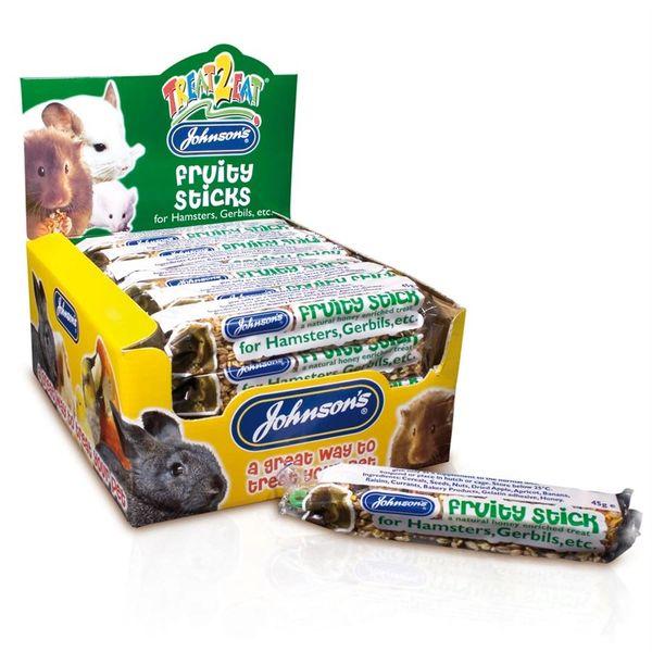 *ONLINE & INSTORE* Johnsons Treat 2 Eat Fruity Stick for Hamsters, Gerbils etc. 45g