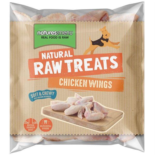 *ONLINE EXCLUSIVE* Natures Menu Frozen Raw Treats Chicken Wings 1kg