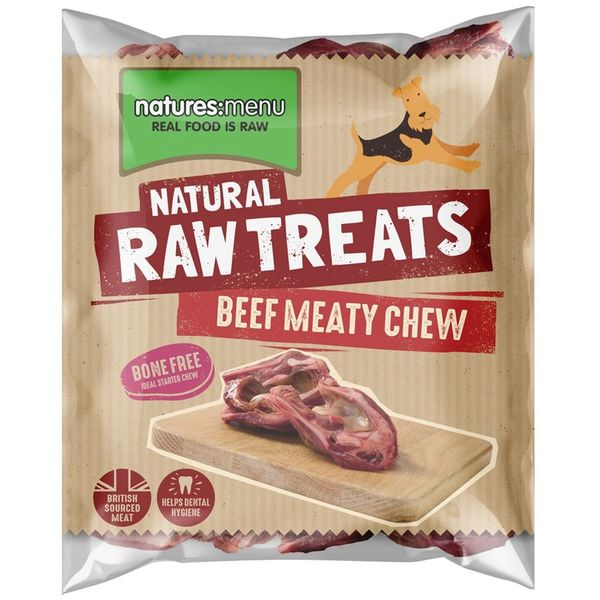 *ONLINE EXCLUSIVE* Natures Menu Frozen Raw Treats Beef Meaty Chew