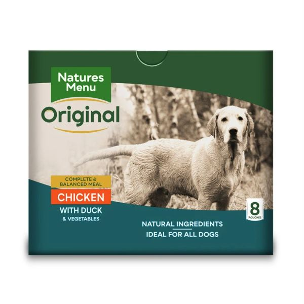 {LIB}*ONLINE & INSTORE* Natures Menu Adult Chicken and Duck Pouches 8 x 300g
