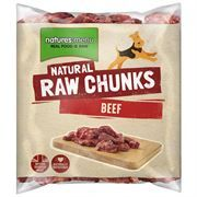 *ONLINE EXCLUIVE* Natures Menu Raw Chunks Frozen Raw Beef 1kg