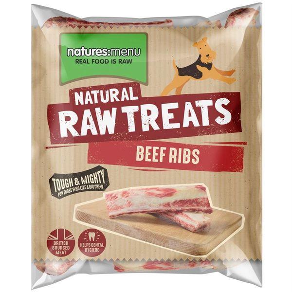 *ONLINE EXCLUSIVE* Natures Menu Frozen Raw Treats Beef Ribs