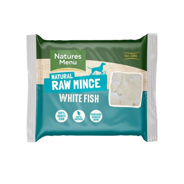 *ONLINE EXCLUSIVE* Natures Menu Frozen Raw Mince White Fish (12 x 400g)