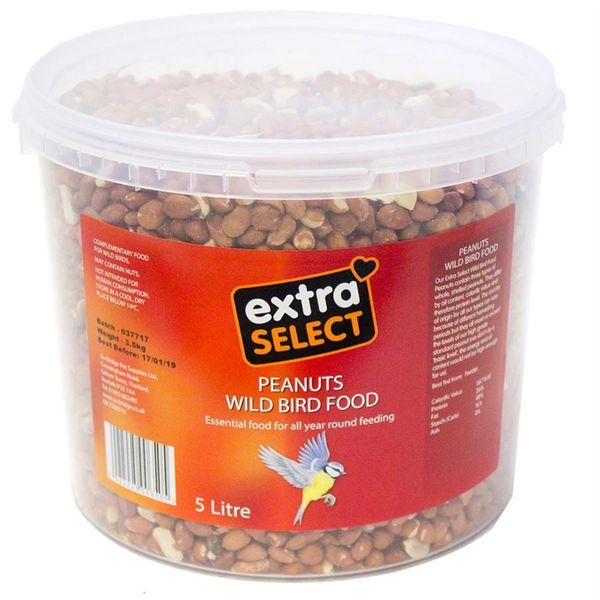 *ONLINE & INSTORE* Extra Select Peanuts Wild Bird Food Bucket 5 Litre