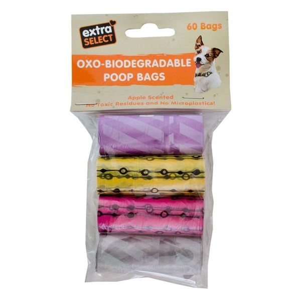 *ONLINE & INSTORE* Extra Select Biodegradable Poop Bags (60 bags)