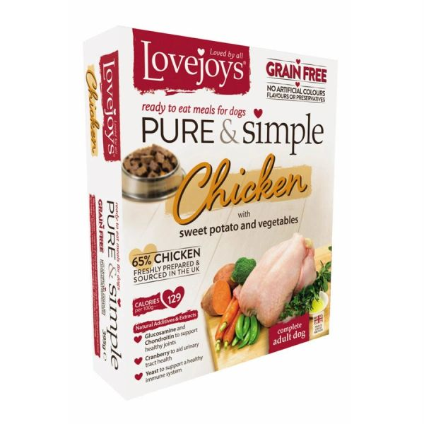 {LIB}*ONLINE ONLY* Lovejoys Pure & Simple Grain Free with Chicken (10 x 395g)
