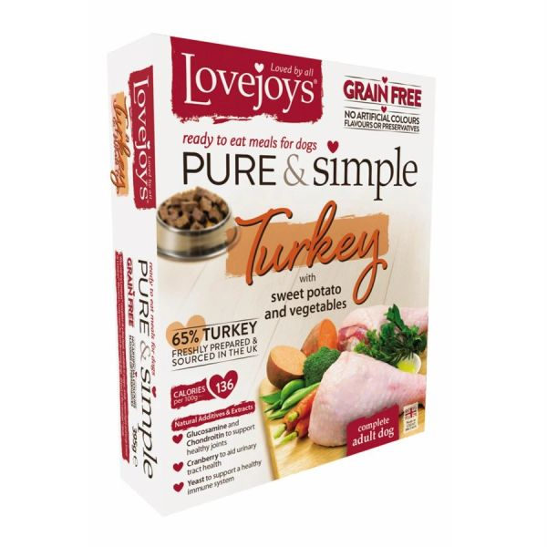 {LIB}*ONLINE ONLY* Lovejoys Pure & Simple Grain Free with Turkey (10 x 395g)