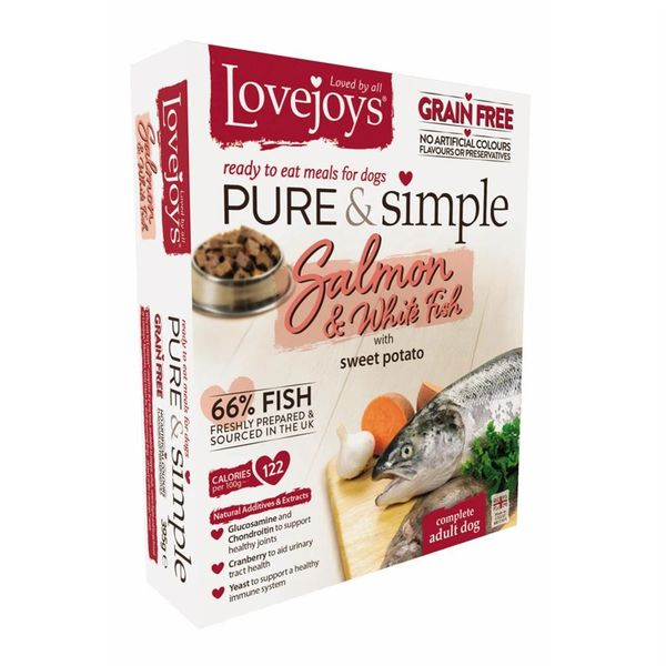 {LIB}*ONLINE ONLY* Lovejoys Pure & Simple Grain Free with Salmon (10 x 395g)
