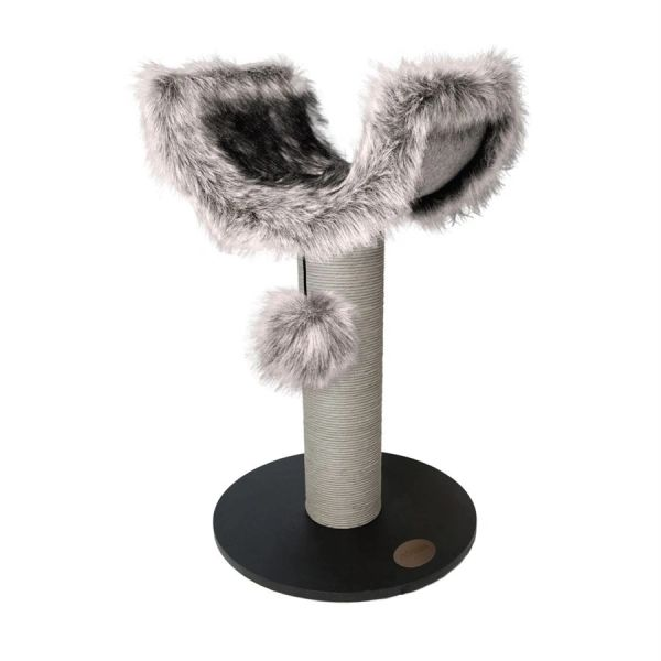 *ONLINE ONLY* James & Steel Abode Luxe Fur and Wood Scratching Den