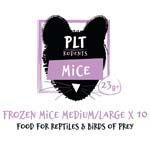 *ONLINE & INSTORE* PLT Frozen Mice Medium/Large 23g+