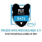 *ONLINE & INSTORE* PLT Frozen Rat Medium/Large 200g+