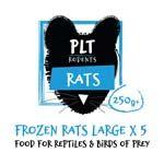 *ONLINE & INSTORE* PLT Frozen Rat Large 250g+