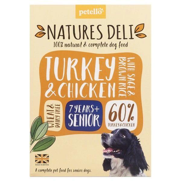 {LIB} *ONLINE & INSTORE* Natures Deli Senior Chicken & Turkey 400g
