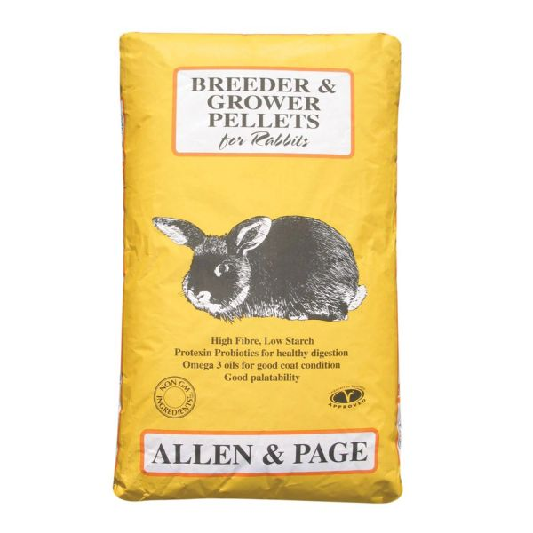 *ONLINE ONLY* Allen & Page Breeder & Grower Rabbit Pellets 20kg
