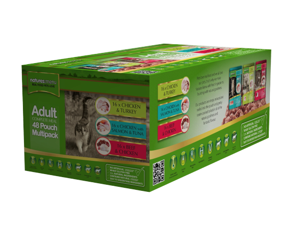 *ONLINE ONLY* Natures Menu Adult Cat Multipack 48 x 100g Pouches