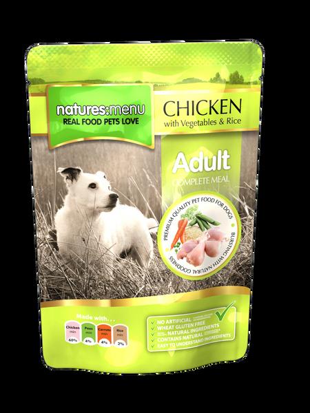 {LIB}*ONLINE & INSTORE* Natures Menu Adult Chicken Pouch