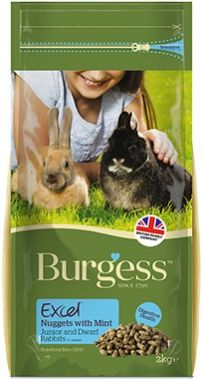 *ONLINE ONLY* Burgess Excel Junior and Dwarf Rabbit Nuggets with Mint
