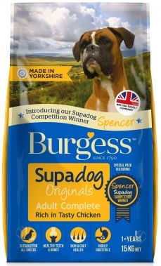 {LIB}*ONLINE & INSTORE* Burgess Supadog Adult Dog Chicken 15kg