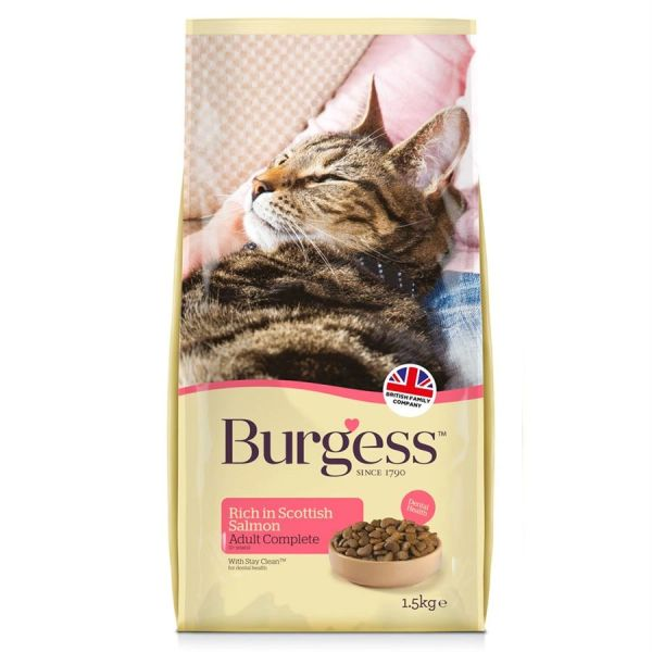 *ONLINE ONLY* Burgess Adult Cat with Scottish Salmon