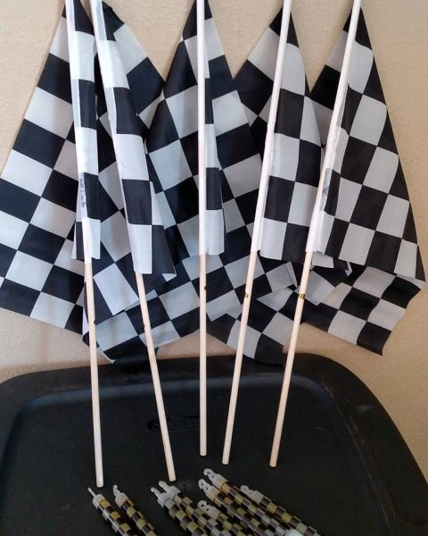 12 x 18 checker souvenir race flag