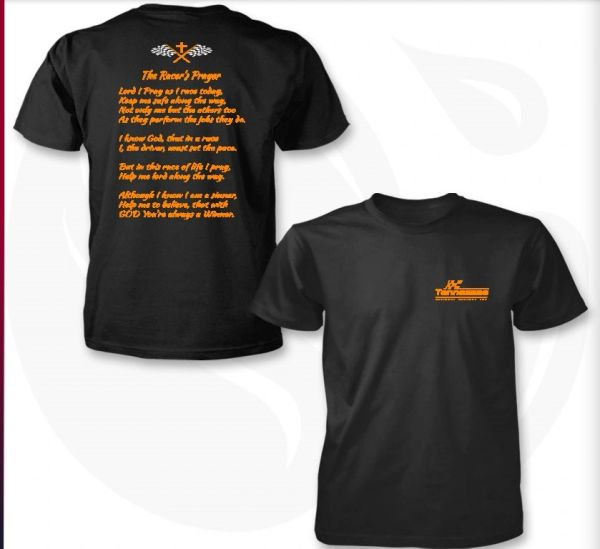 Racer Prayer Black and Orange