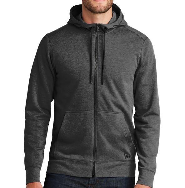 New Era [NEA511] Tri-Blend Fleece Full-Zip Hoodie