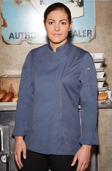 Medium Chef Works Womens Hartford Chef Coat Black