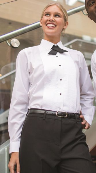 soft and light half off great prices Women's Tuxedo Shirt