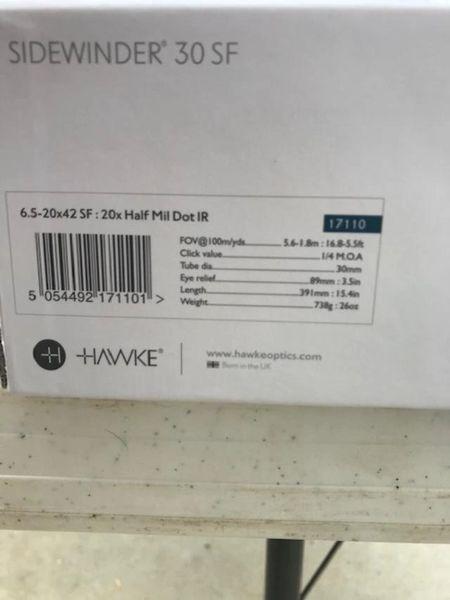 Used Hawke Sidewinder 30 SF 6.5-20x42 SF