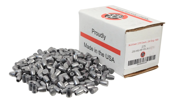 Nielsen Specialty Ammo .250 Caliber 36.2 Grain Hollow Point Flat Base