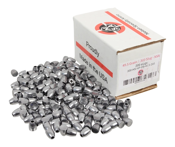 Nielsen Specialty Ammo .30 Caliber 49.5 Grain Hollow Point Dish Base
