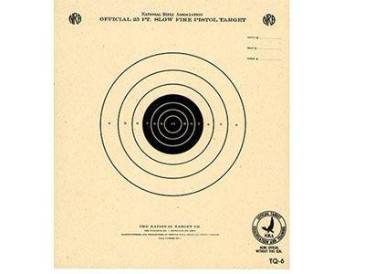 "Kruger NRA 50 yd Smallbore Rifle Target, 7""x9"", 100ct"