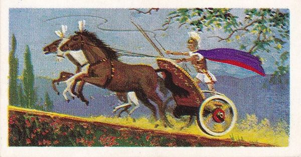 Trade Card Brooke Bond Transport Through the Ages No 05 Chariot